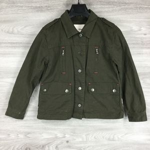 Maddie Army Green Daydreamer Cactus Jacket